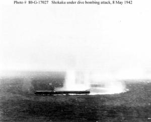Shokaku under attack