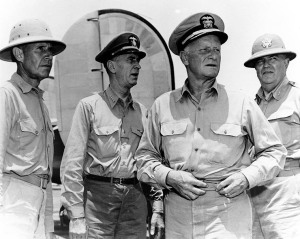 Admirals Spruance, King, Nimitz & General Jarman