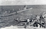 German submarine - U-564 resuppling in the Caribbean, 1942