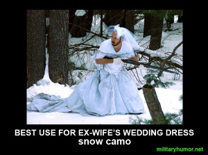 military-humor-funny-best-use-for-ex-wifes-wedding-dress-snow-camo