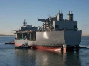"""USS Lewis B. Puller"""" a mobile landing platform vessel"""