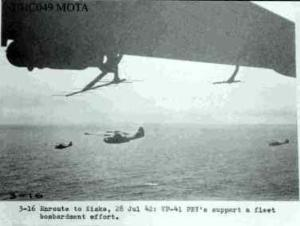 VP-41 enroute to Kiska to support a fleet bombardment