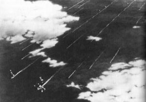 Imperial Japanese Fleet on approach to Midway