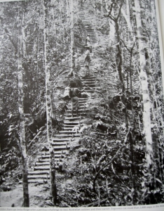 The Golden Stairs up Imita Ridge. Engineers cut more than 2,000 steps into the mountain.