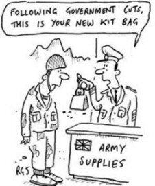 Distribution of new G.I. supplies is might skimpy.