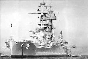 USS Oklahoma, in finer days
