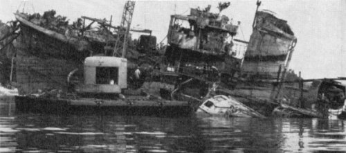 One of the US battleships  destroyed off Guadalcanal