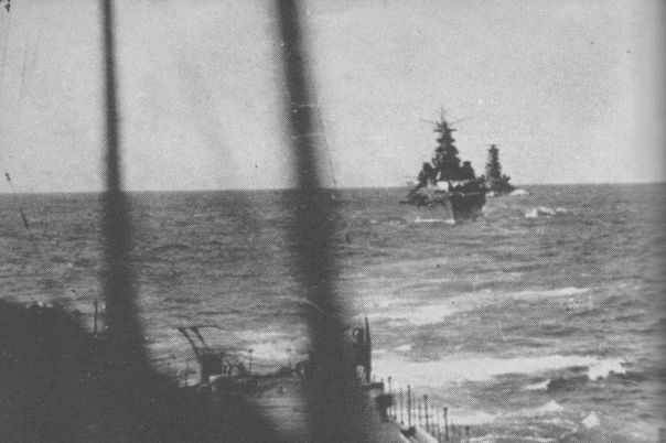 IJN ship Kirishima and Takao enroute to Guadalcanal