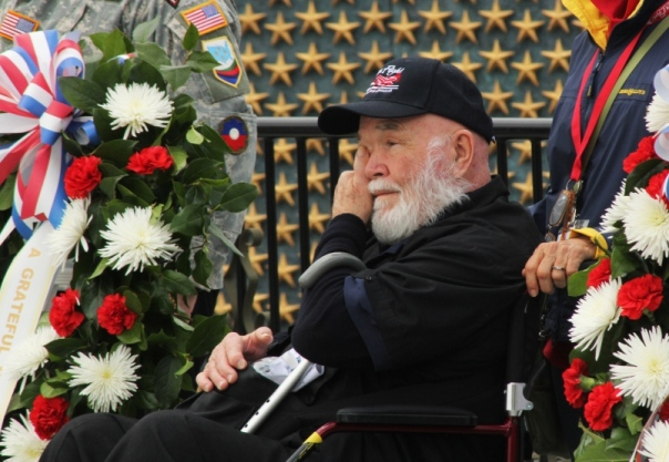 WWII US Army veteran Howard Harvey @ Washington DC ceremonies