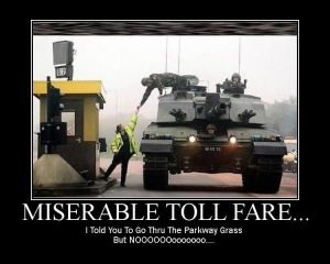 Oops - it's a toll road!