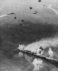 Taken during the Naval Battle of Guadalcanal, Nov. 1942