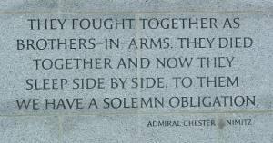 WWII Memorial poem at Arlington Cemetery