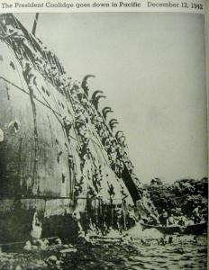 Transport ship 'President Coolidge'