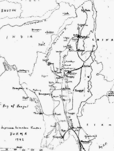 Burma combat map from 1942