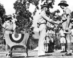 PO John Archer receives US Silver Star from Gen. Whitehead, 1943