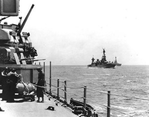 Vessels enroute to the Battle of Rennell Island