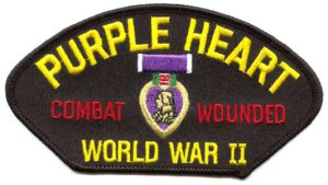 Purple Heart patch for those wounded in WWII