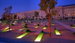 Pentagon Memorial benches w/ names on each one.
