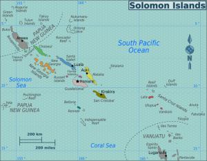 Solomon Islands and surrounding area.