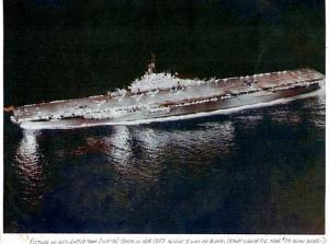 USS Antietam, while Arthur was on board