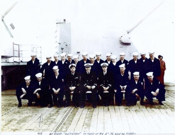 USS Antietam, Arthur Mulroy (second from the left, front row)