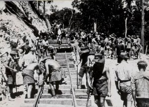 POWs working on the Thailand/Burma Railroad.