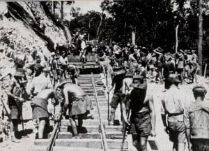 POWs working on the Thailand/Burma Railroad.