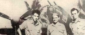 Thomas Lanphier Jr.; Besey Holmes, Rex Barber. The 4th pilot, Raymond Hine, did not return