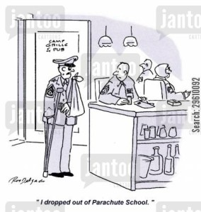 'I dropped out of Parachute School.'
