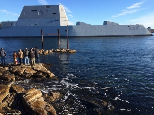 USS Zumwalt leaves Maine