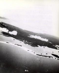 Aerial view of Kolombangara, 1943