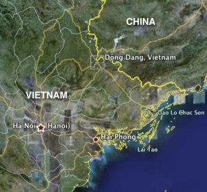 Location of Hai Phong.