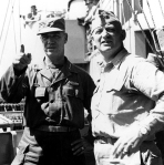 Gen. James Van Fleet w/ RAdm. Arleigh Burke aboard the USS Los Angeles, Korea 1951