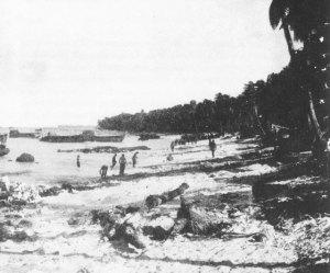 Red Beach Two - 105th Field Artillery landing