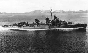 USS Charles Ausburne, flagship at Battle of Cape St. George