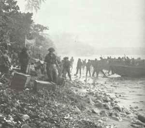 New Zealand brigade landing