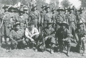 Sam Spector, radio operator, with Kachin Company C.