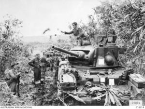 Matilda tank enroute to Sattelberg