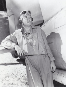 Pappy Boyington, famed rebel leader of the Black Sheep Squadron