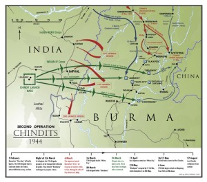 Chindit operations map