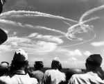Fighter plane contrails, Great Marianas Turkey Shoot