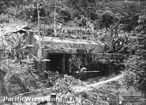 Japanese bunker at the base of Kangu Hill.