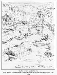 Sketch by: William Garbo Sr., Dog Platoon, July 1944