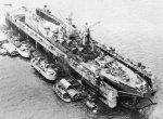 USS Iowa in dry dock