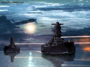 Yamato and Musashi (artist unknown)