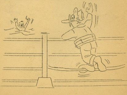 cartoon by Joe Aman for the USS Astoria Morning Press News